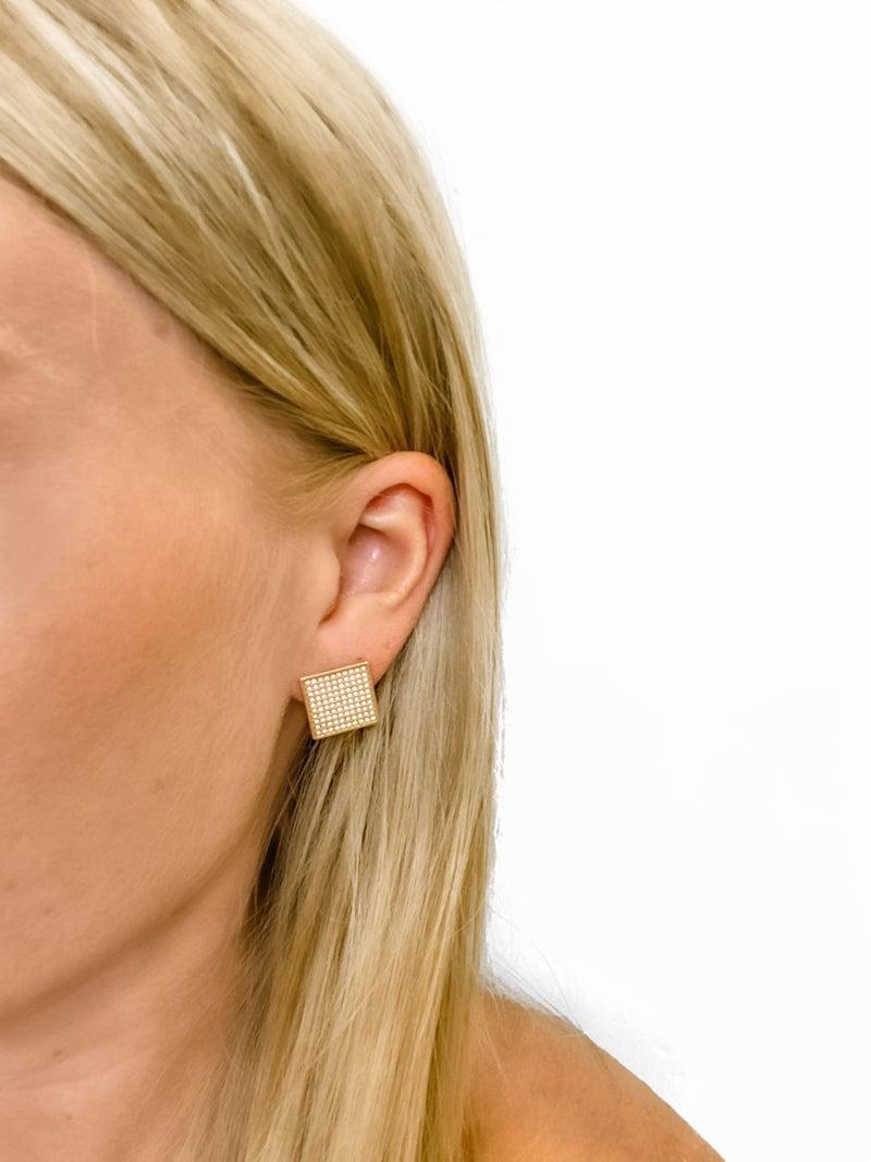 Golden Girl Stud Earrings