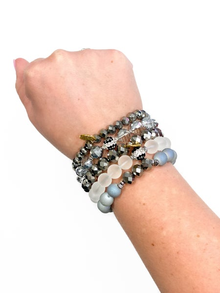 The White Leopard Bracelet Stack