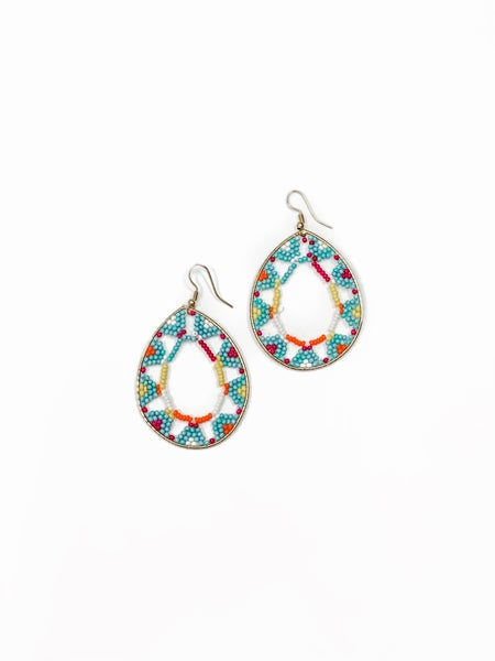 Go With It Earrings Turquoise