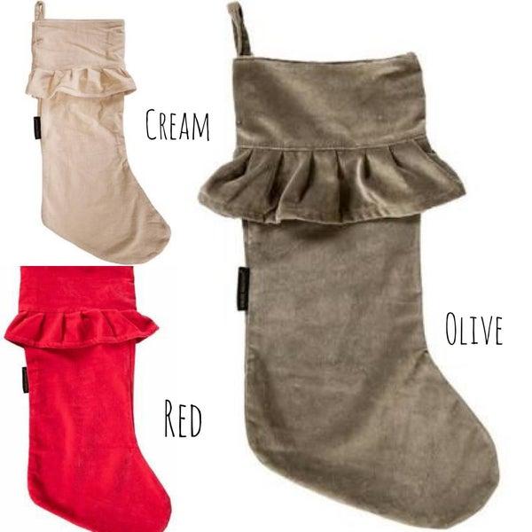 Ruffle Velvet Stocking