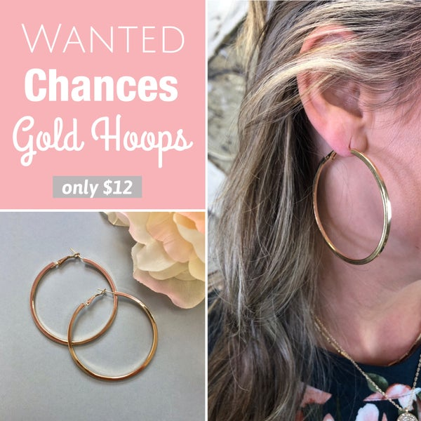 Wanted Chances Gold Hoops