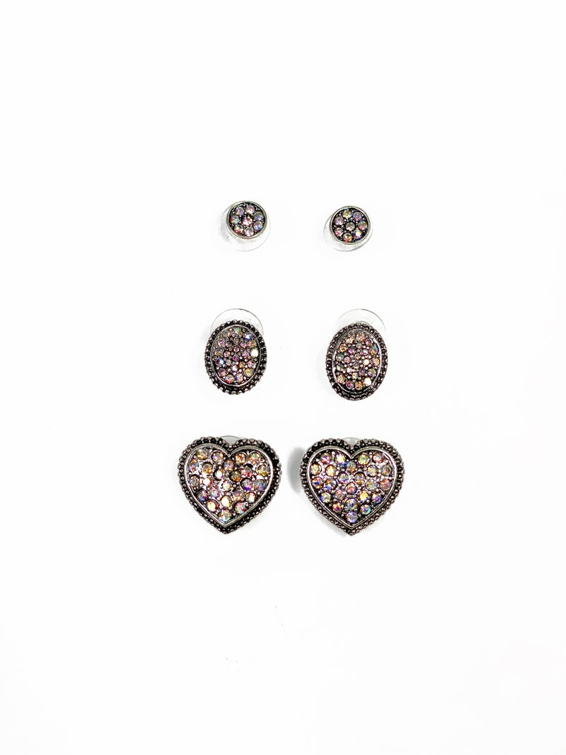 Days For Love Stud Set Silver