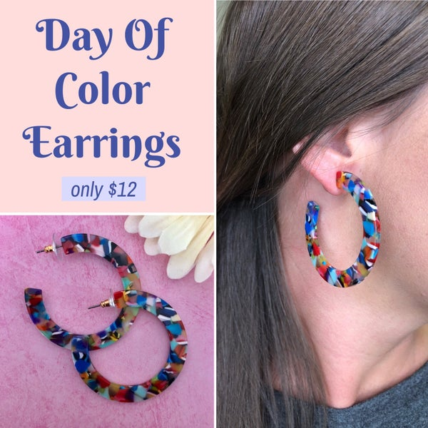 Day Of Color Earrings