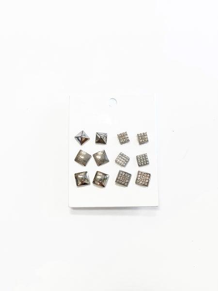 The Callie Stud Set Silver