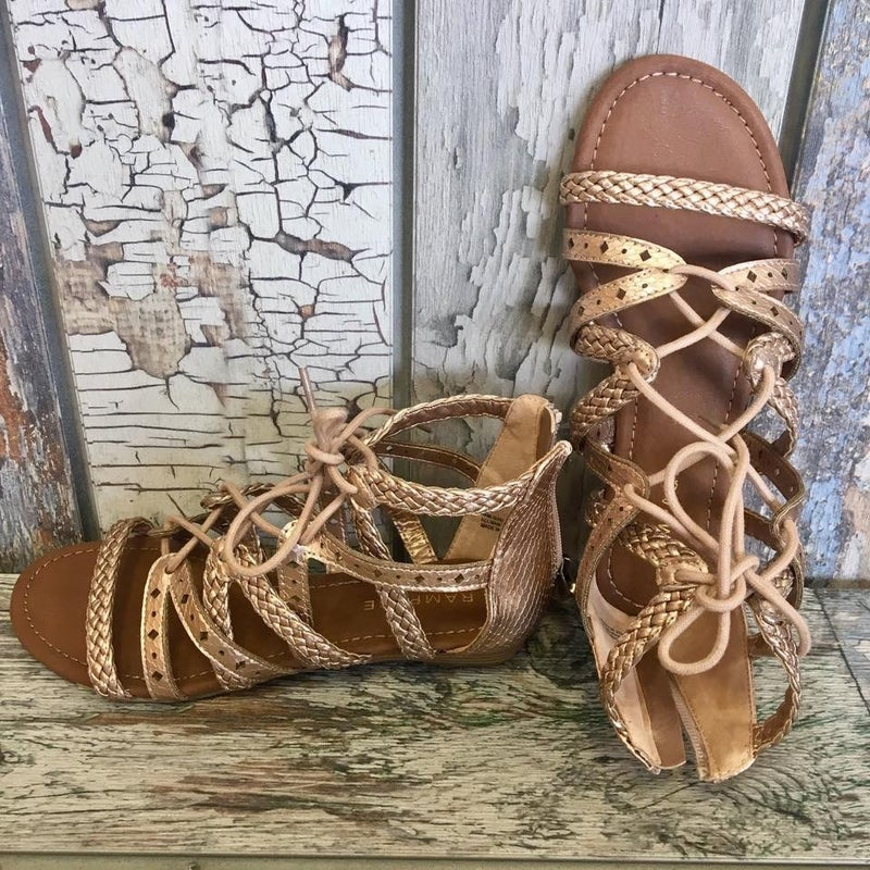Rosey Rose Gold Sandals