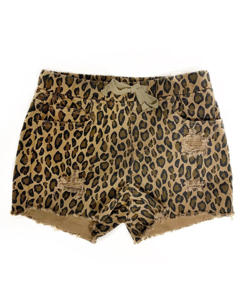 Move On Over Shorts Leopard