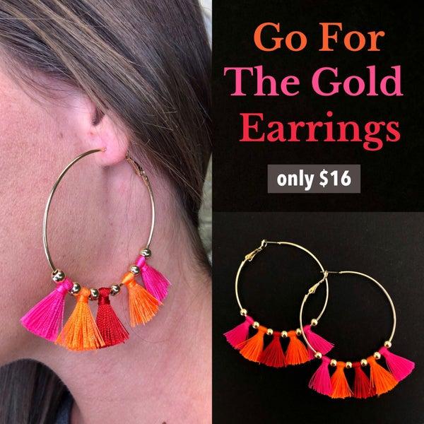 Go For The Gold Earrings