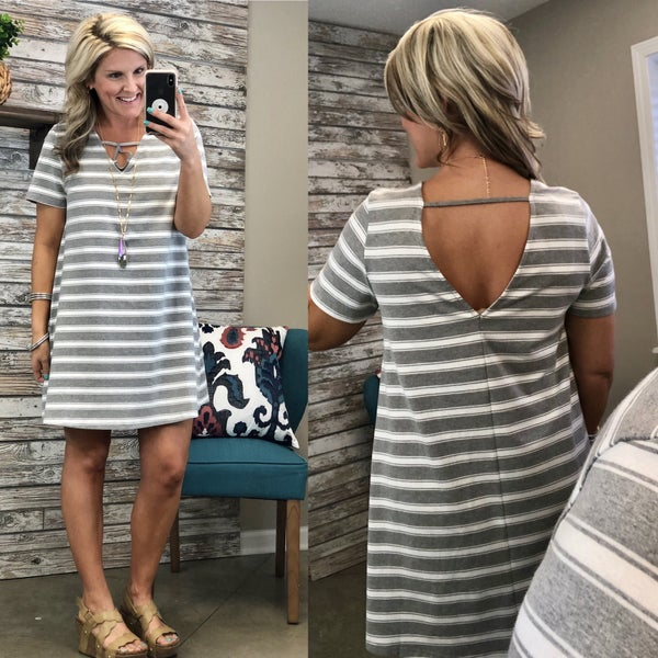 Never Let Go Striped Dress *Final Sale*