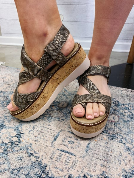 The Stacey Wedge Gunmetal *Final Sale*