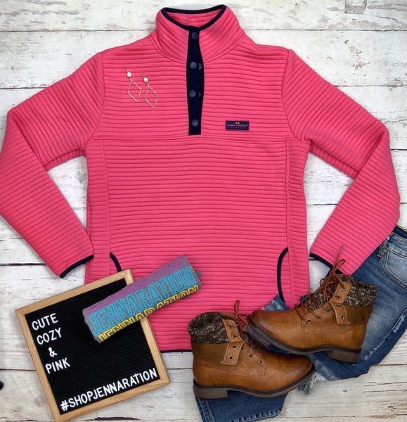 Preppy Pink Pull Over-FINAL SALE *Final Sale*