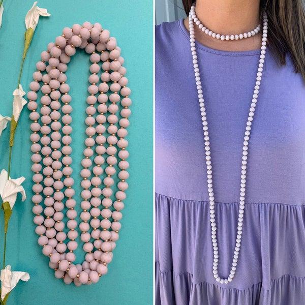 Dream Away Wrap Necklace Lavender FINAL SALE