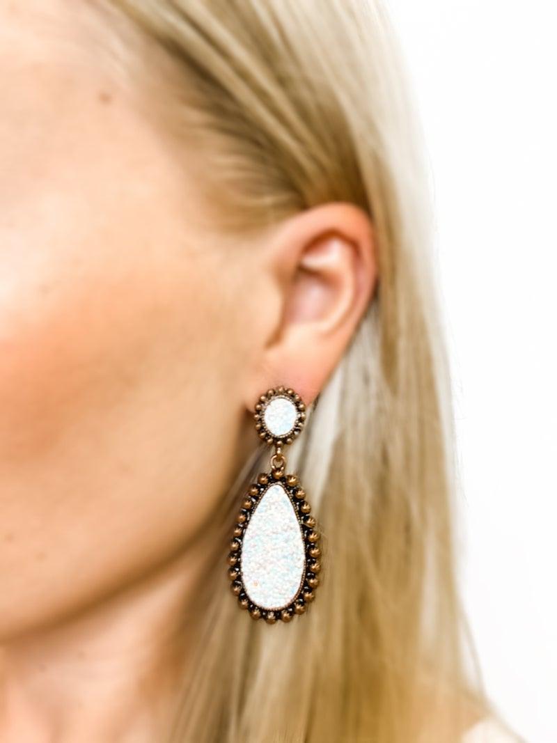 The Sarah Earrings White