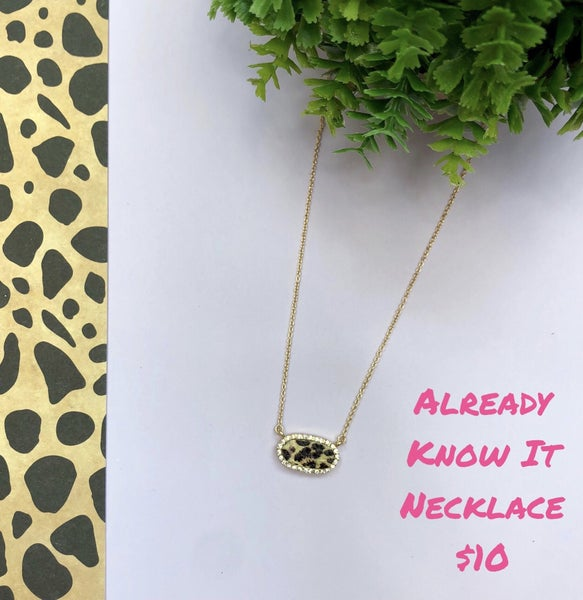 Already Know It Necklace
