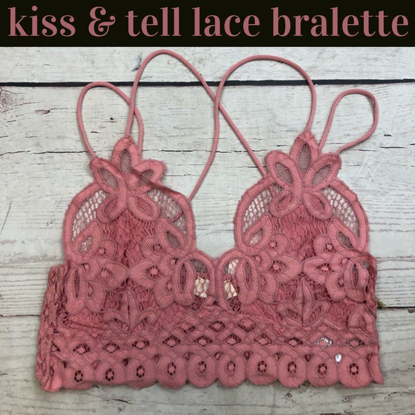 Kiss And Tell Lace Bralette Mauve