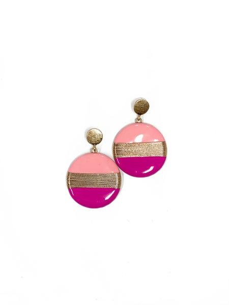 The Rhonda Earrings Pink