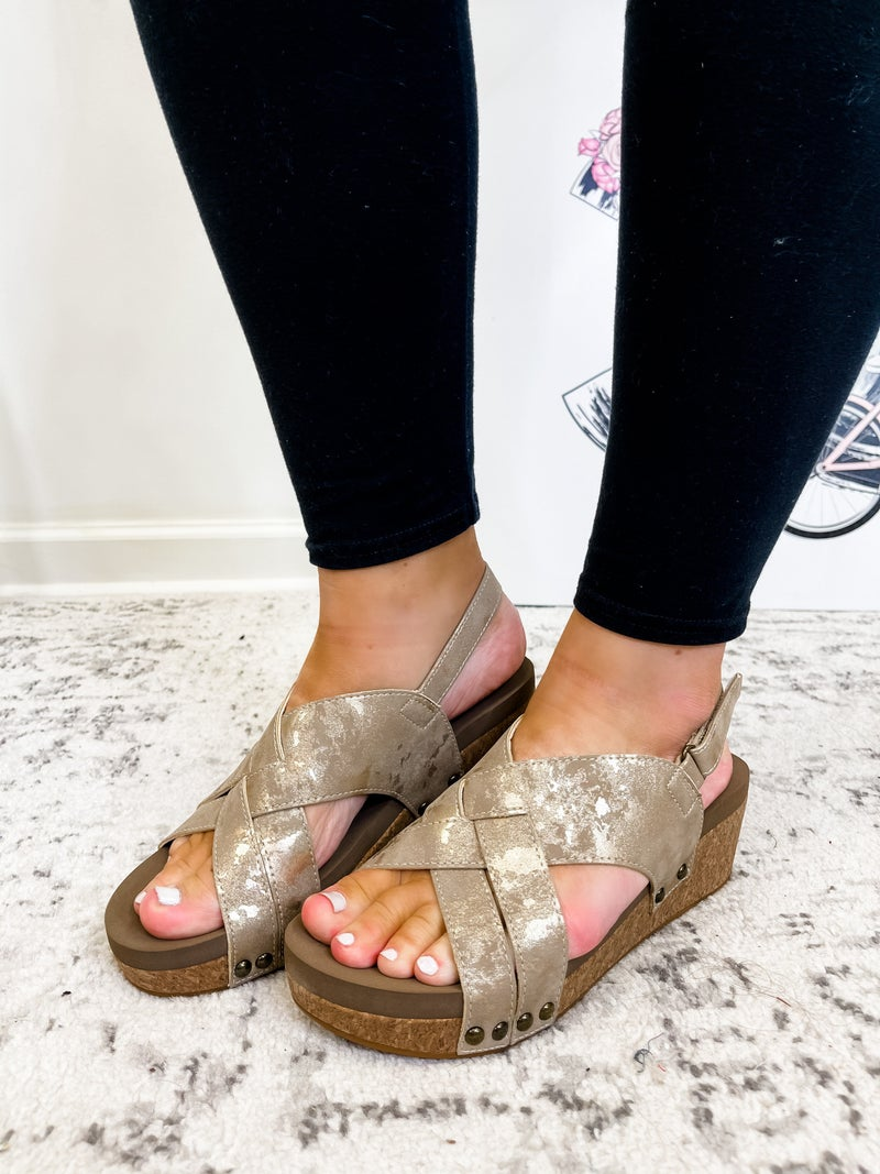 The Lacey Wedge Taupe
