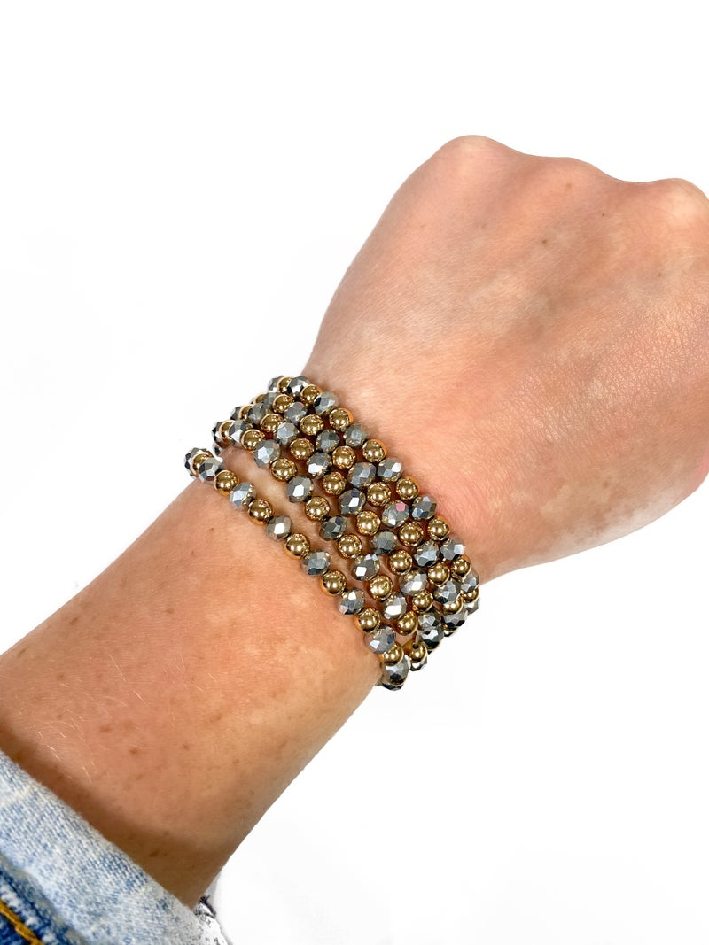 The Trina Bracelet Stack Pewter