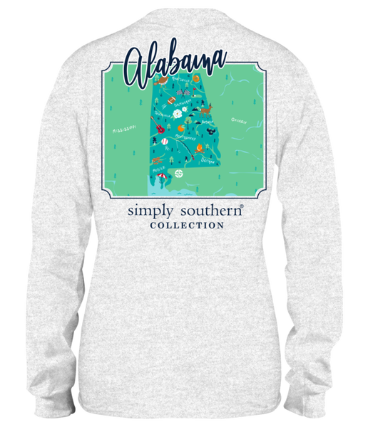 Alabama Map Tee