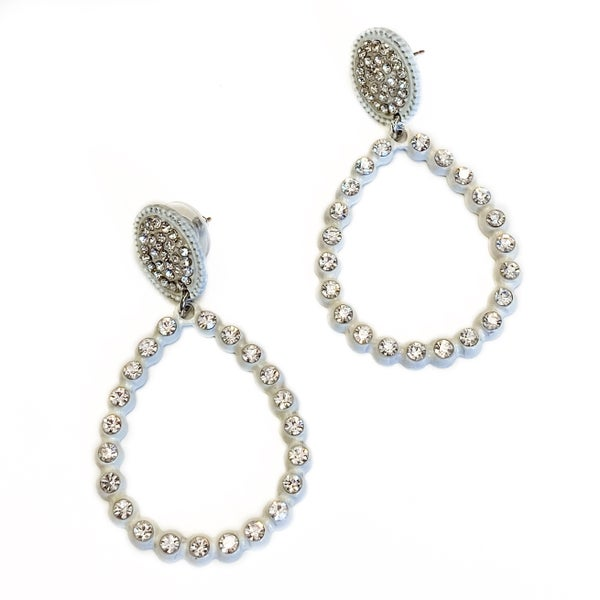 More To See Earrings White