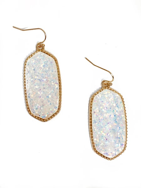 The Lila Earrings White