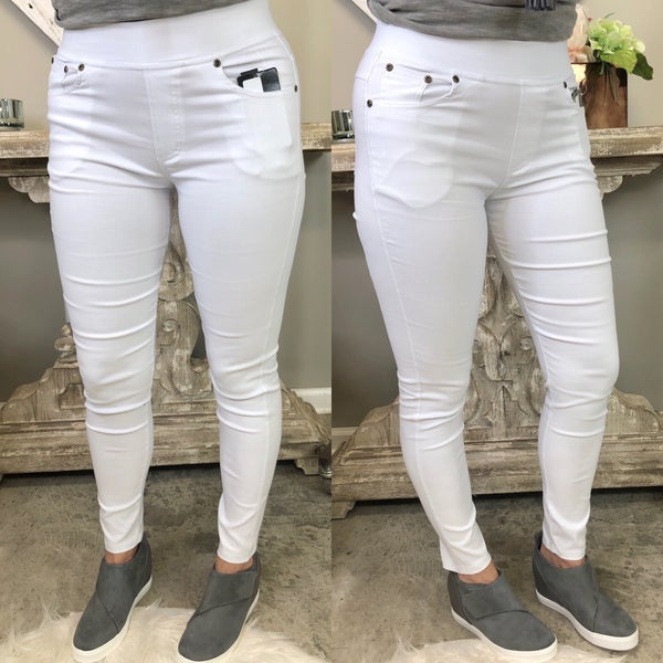 Come On Over White Jeggings *Final Sale*