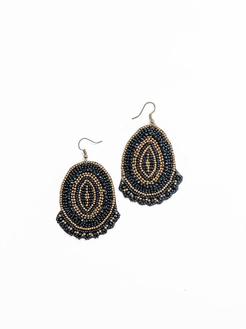 The Sally Earrings Black