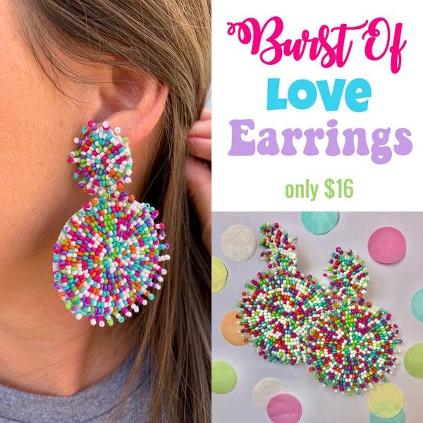 Burst Of Love Earrings