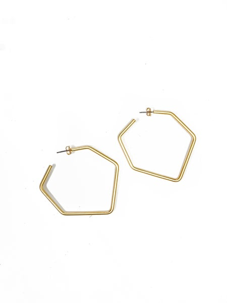 The Tina Hexagon Hoops