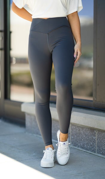 Stay On Trend Leggings, Charcoal