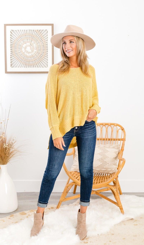 Dream Big Sweater, Mustard