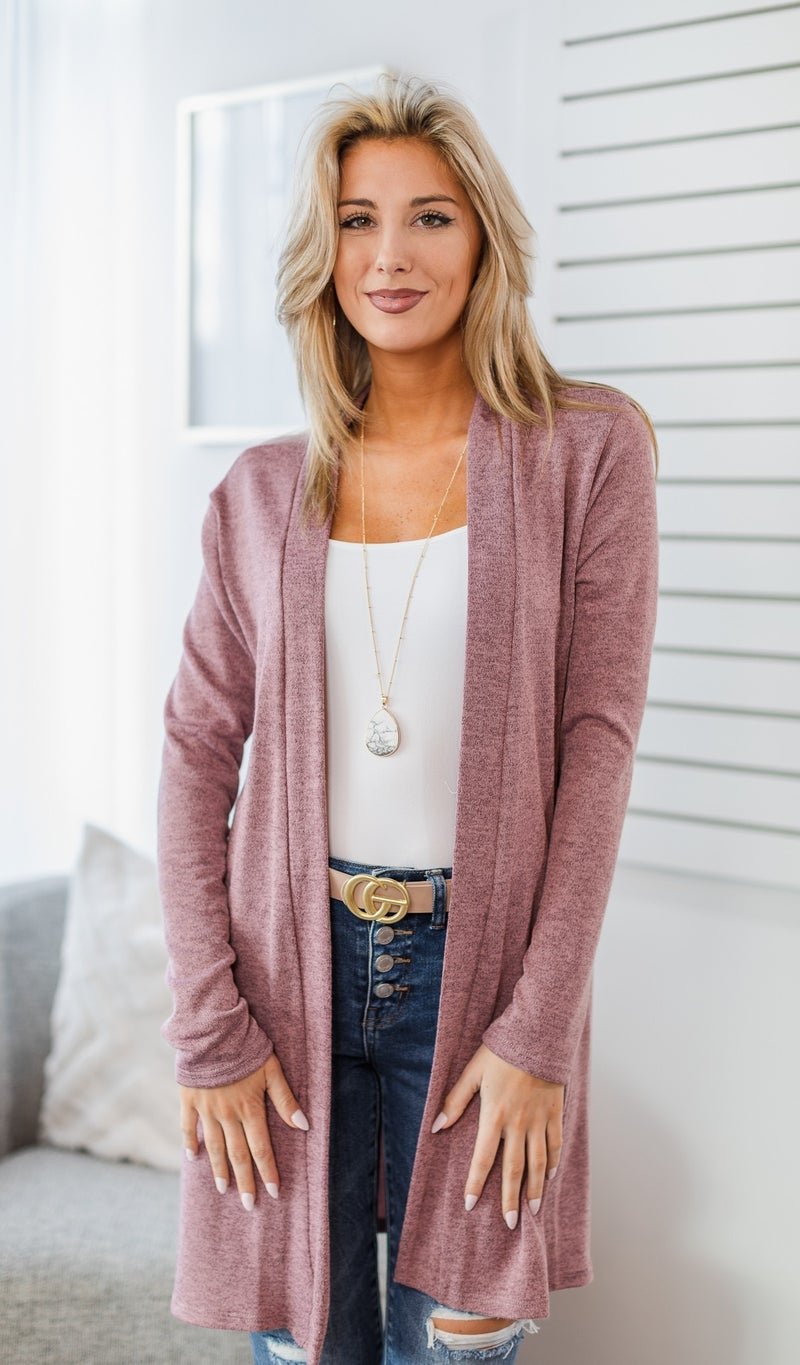 Make Up Cardigan, Orchid