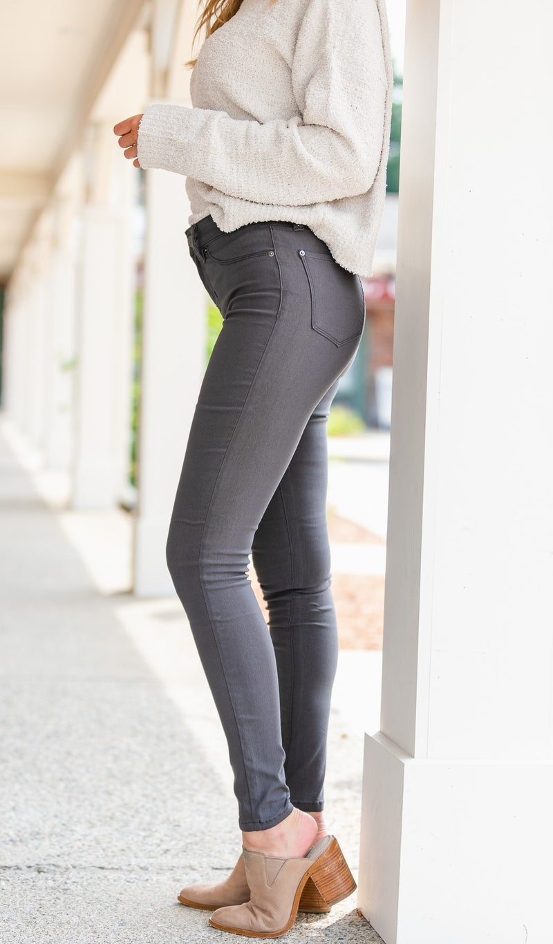 Next Best Thing Jeggings, Grey