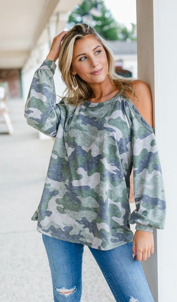 Go For it Top, Olive Camo
