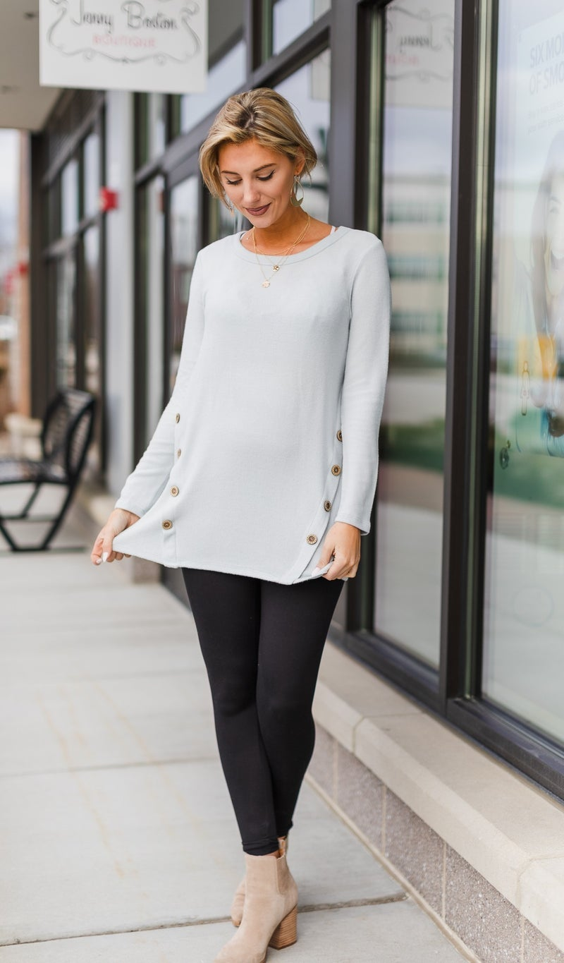Bare It All Tunic, Light Blue
