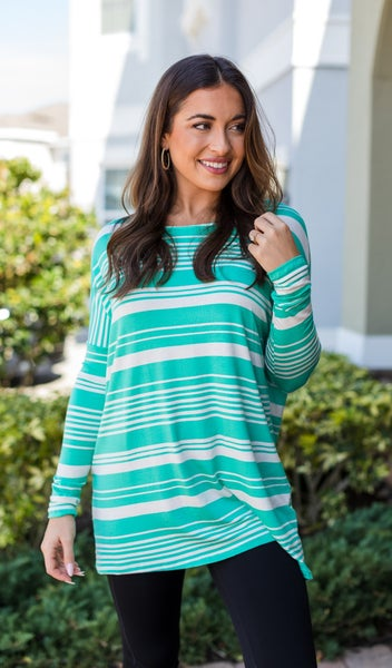 Brayden Stripe Tunic, Mint