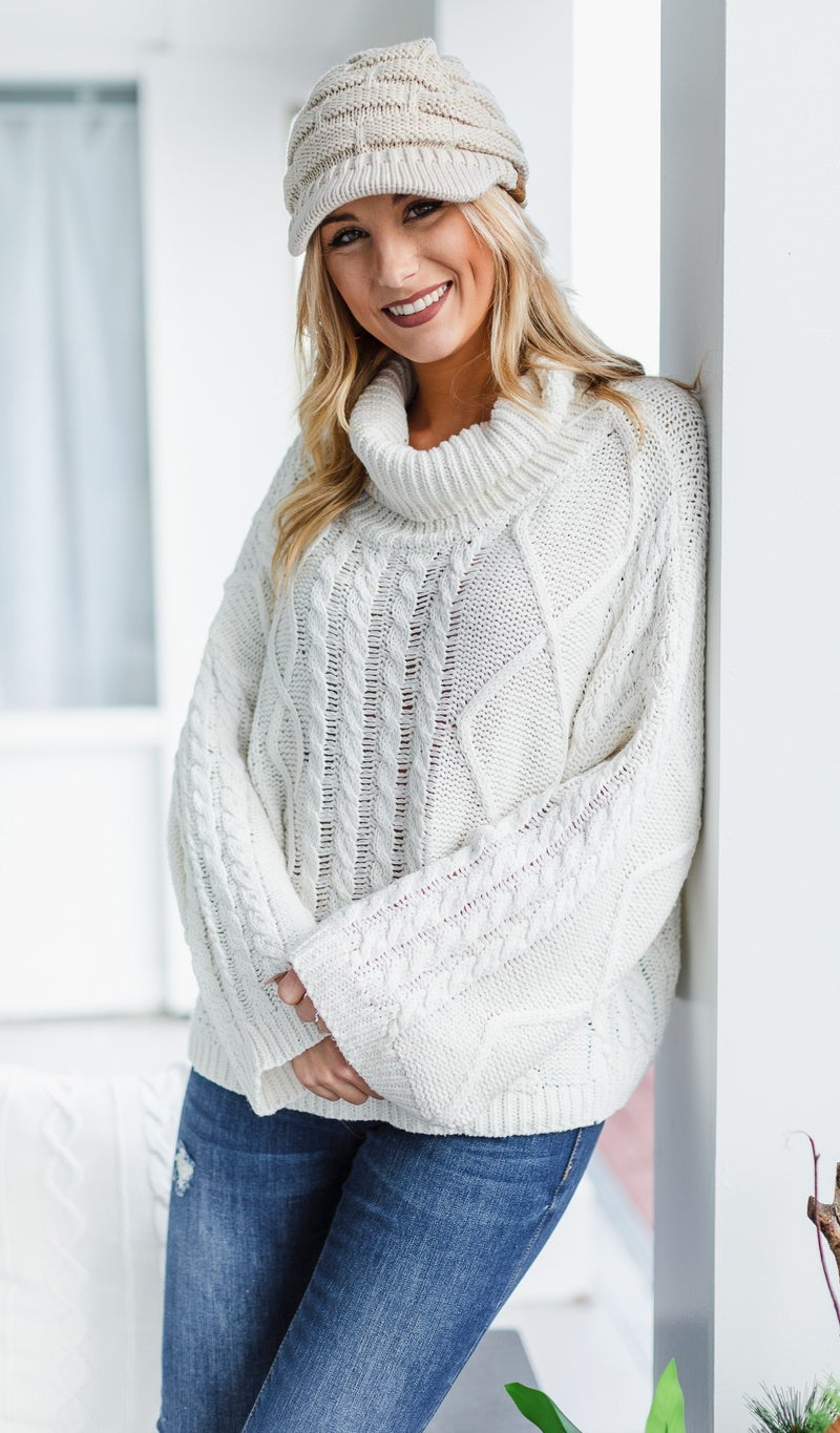 Snow Fall Sweater, White