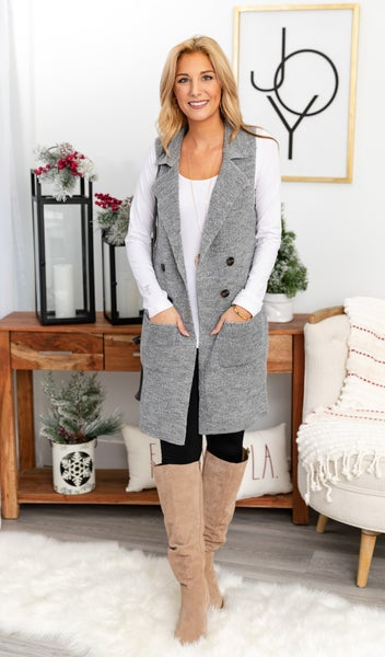 Nothing But Warmth Vest, Heathered Grey
