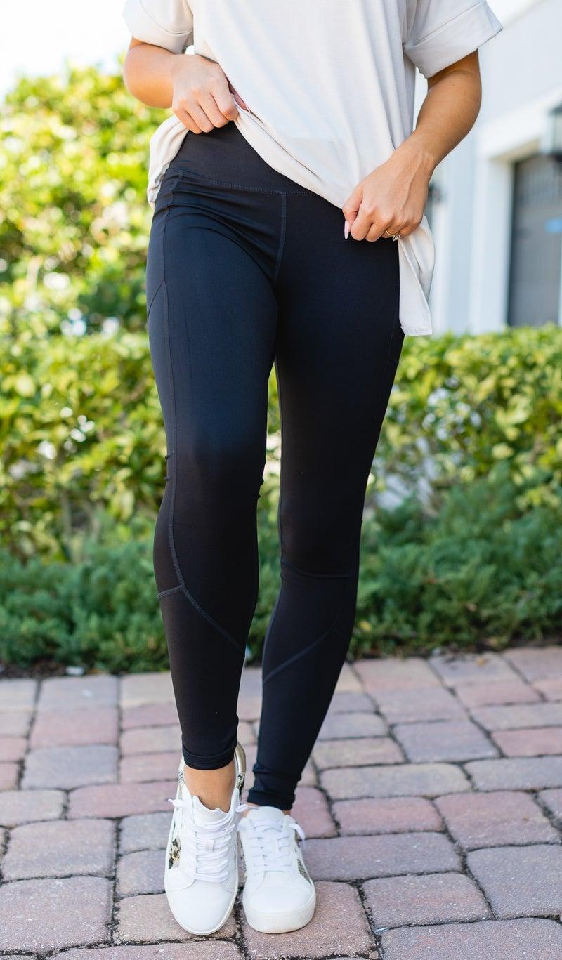 JB Premium Active Leggings, Blue, Lavender, or Black