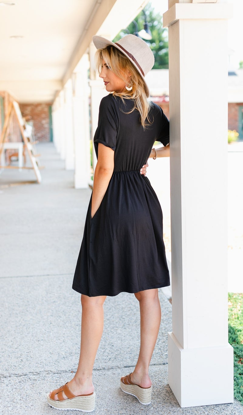 Cassia Summer Dress, Black