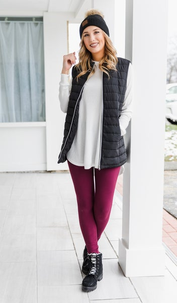 Jenny Thermal Knit Tunic, White