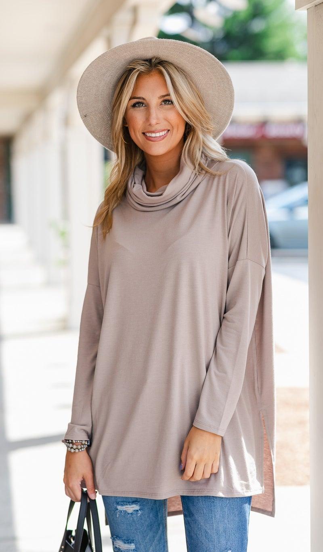 The Athena Top- Grey, Mocha, or Sage