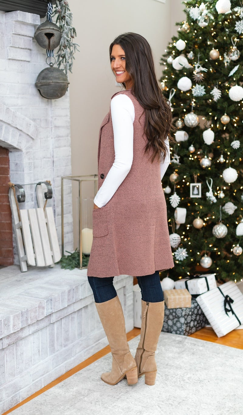 Nothing But Warmth Vest, Mauve