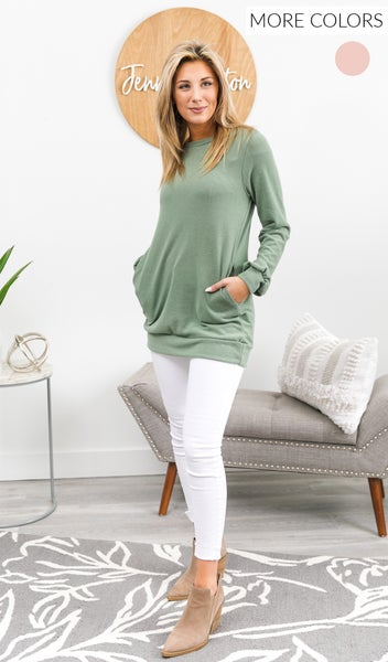 Frozen Tundra Tunic, Blush or Sage