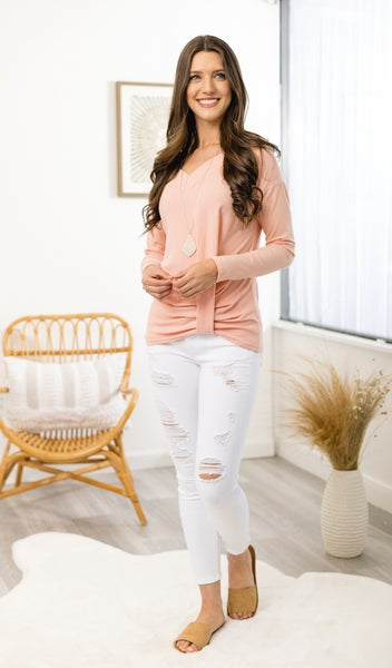 The Sammi Top, Peach
