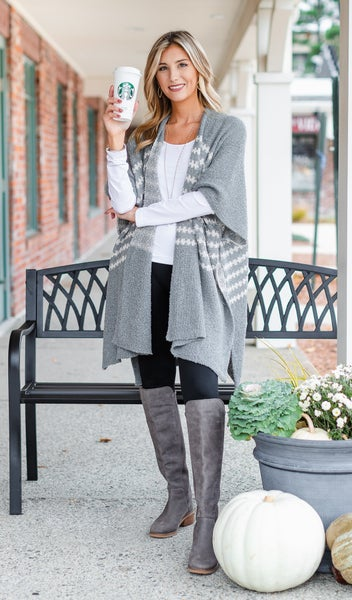 The Perfect One  Shawl, Grey