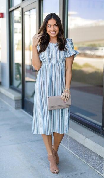 The Freya Dress, Light Blue