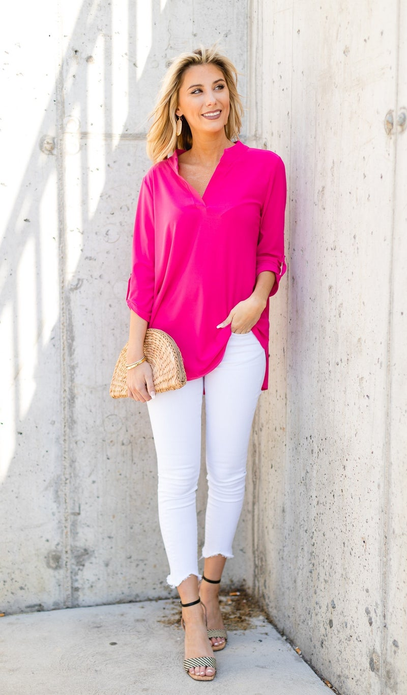 Island Key Top, Pink