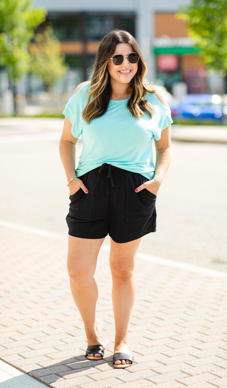 Cozy Summer Shorts Bundle, Black & Navy