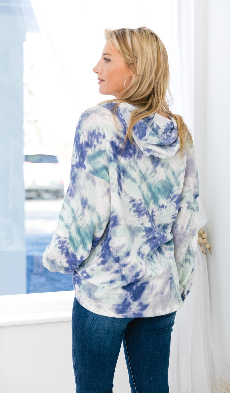 Hard To Forget Top, Mint Tie Dye