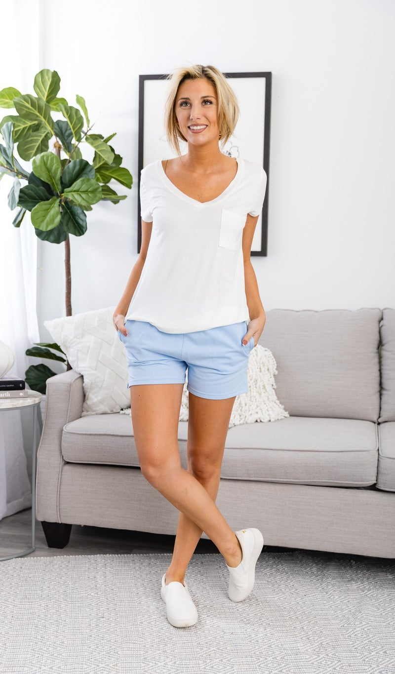 Relaxing Everyday Shorts, Black, Blue or White